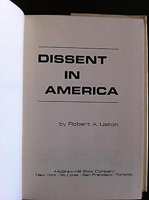 Dissent in America,: Liston, Robert A.