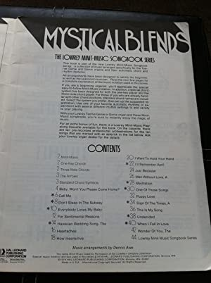 Mystical Blends - 20 Great Standards - Minit - Music Arrangements for Lowrey Teenie Genie and Genie...
