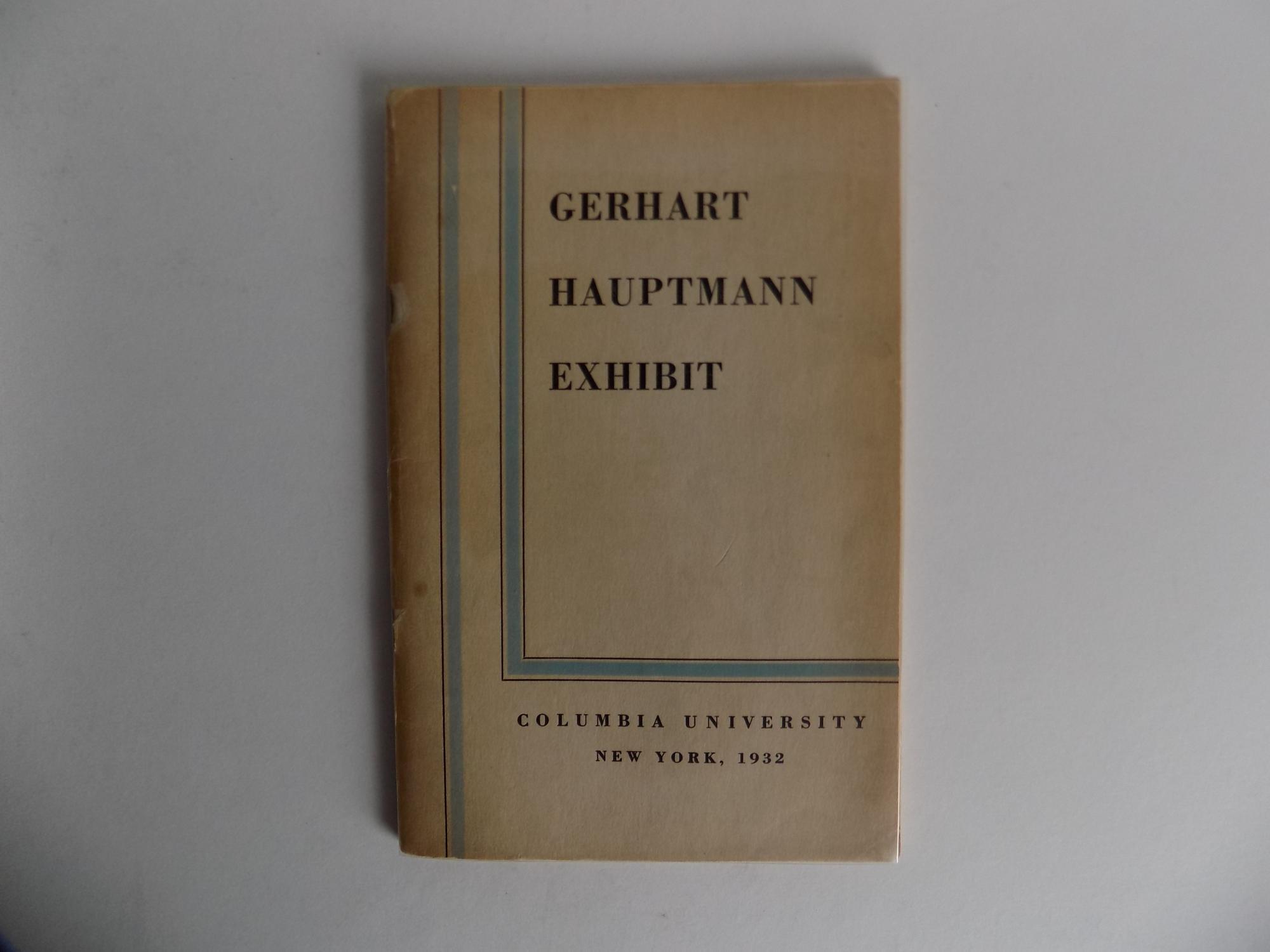 Das Gerhart Hauptmann Haus Erstausgabe Zvab