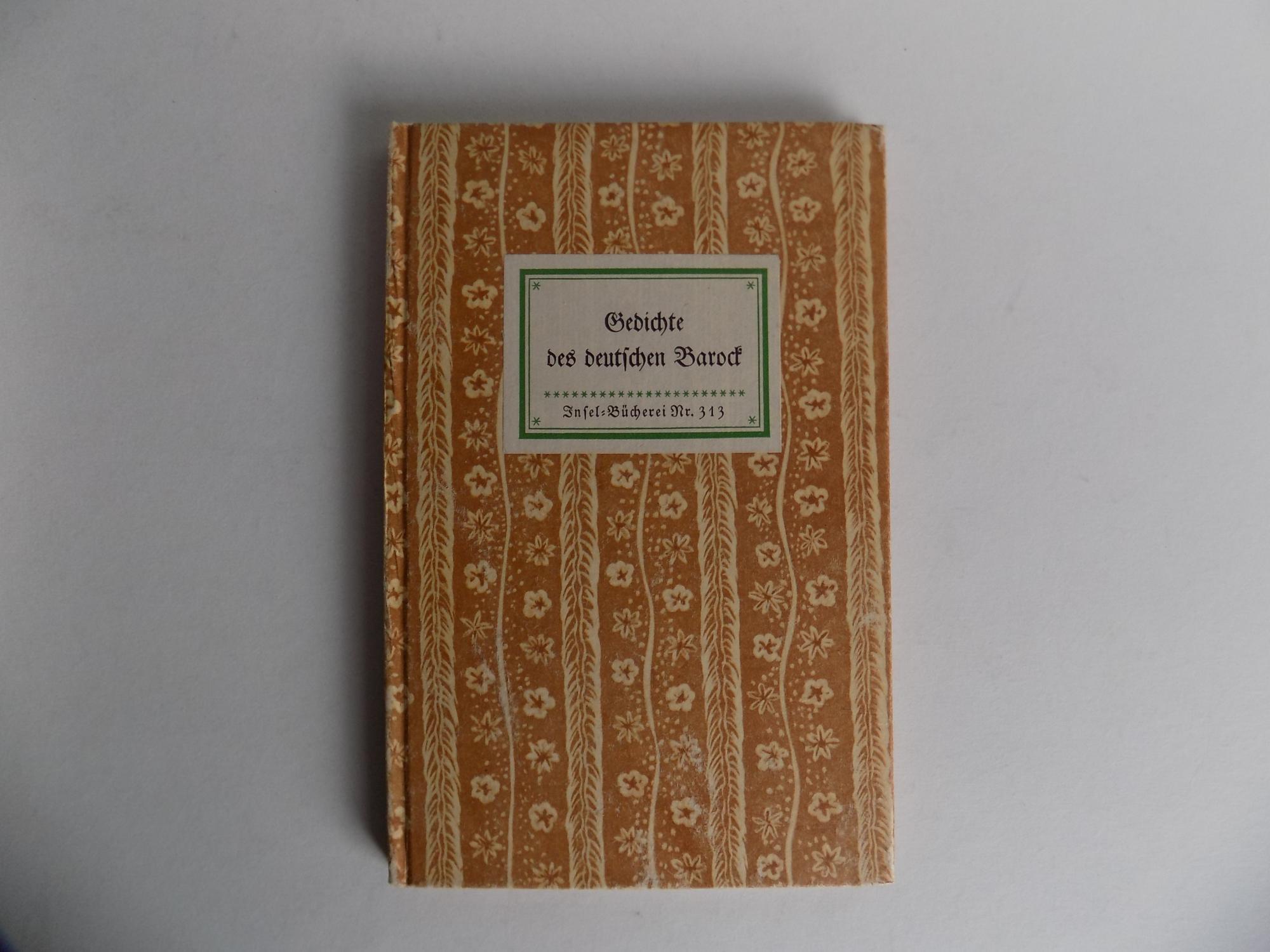Gedichte des deutschen Barock (= Insel-Bücherei Nr.: Kayser, Wolfgang (Hrsg.)