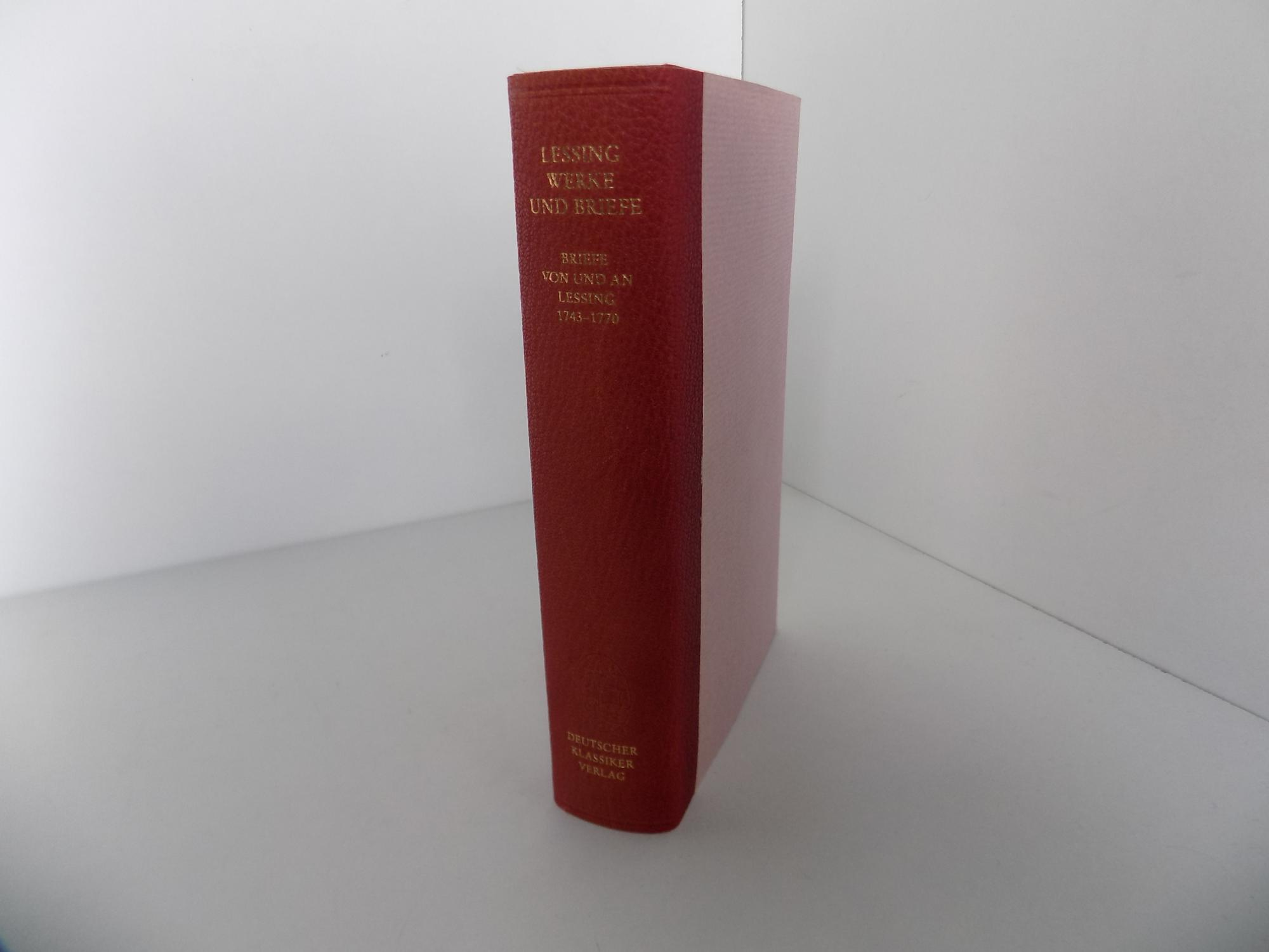Lessing Werke Und Briefe In 12 Bänden : Lessings werke band von lessing erstausgabe zvab