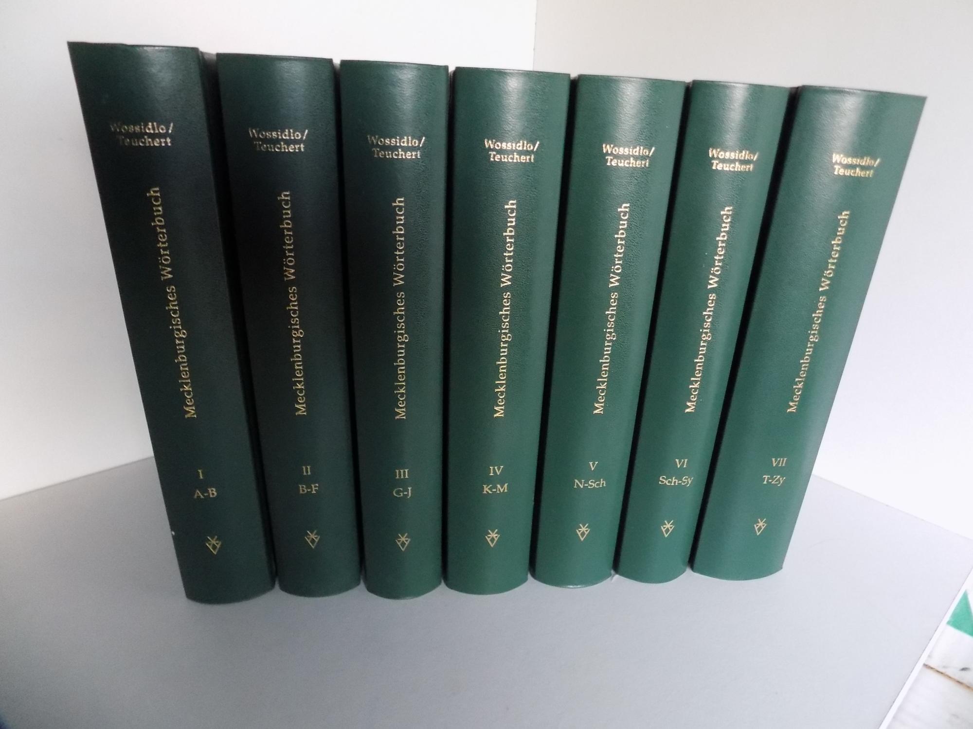 Entzuckend Wossidlo, Richard Und Hermann Teuchert (Hrsg.) Mecklenburgisches  Wörterbuch. Unveränderter, Verkleinerter Nachdruck De Erstauflage Von  1937 1992.