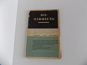 Die Sammlung. Literarische Monatsschrift unter dem Patronat: Mann, Klaus (Hrsg.)