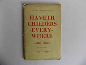 Haveth Childers Everywhere. Fragment from Work in: Joyce, James