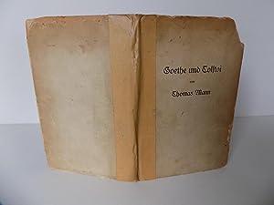 Goethe und Tolstoi.: Mann, Thomas (signiert)