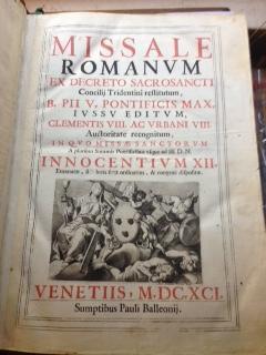 Missale Romanum Ex Decreto Sacrosancti Concilij Tridentini Restitutum, B. Pii V. Pontificis Max. ...