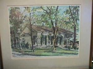 Original Pencil and Watercolor: The Judge George L.Jones Home, Nevada City: Mathis, George