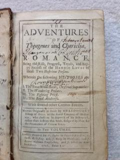 The Adventures of Theagenes and Chariclia, Romance, Being the Rise, Progress, Tryals, and Happy ...