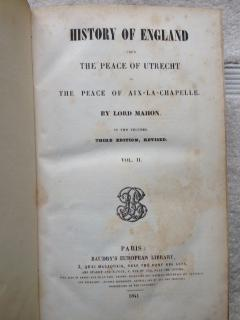 History of England from The Peace of Utrecht to The Peace of Aix-La-Chapelle: Mahon, Lord