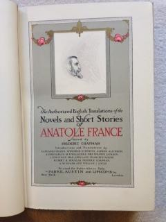 The Authorized English Translations of the Novels and Short Stories of Anatole France.: France, ...