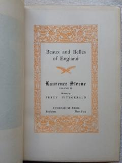 Beaux and Belles of England: Laurence Sterne.: Fitzgerald, Percy