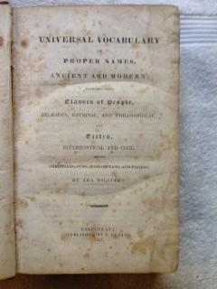 A Universal Vocabulary of Proper Names, Ancient and Modern; Together with Classes of People, ...