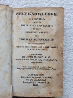 Self-Knowledge, a Treatise, Showing the Nature and Benefit of That Important Science, and the Way ...
