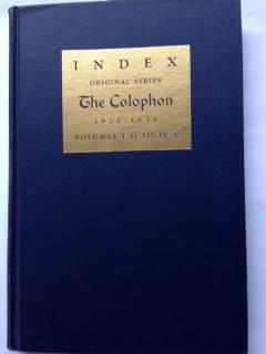 Index : The Colophon : 1930 - 1935 : Volumes I, II, III, IV, V : Twenty Parts
