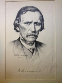 "Original Lithograph - ""C. Carson"": Valkenburgh, Peter Van"