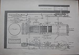 PATENT DRAWING REPRODUCTION] THE ORIGINAL FOURDRINIER PAPER: DONKIN, Bryan.
