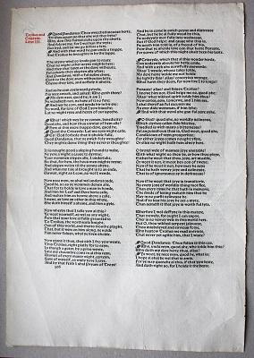 A LEAF FROM THE WORKS OF GEOFFREY: CHAUCER, Geoffrey. (Kelmscott