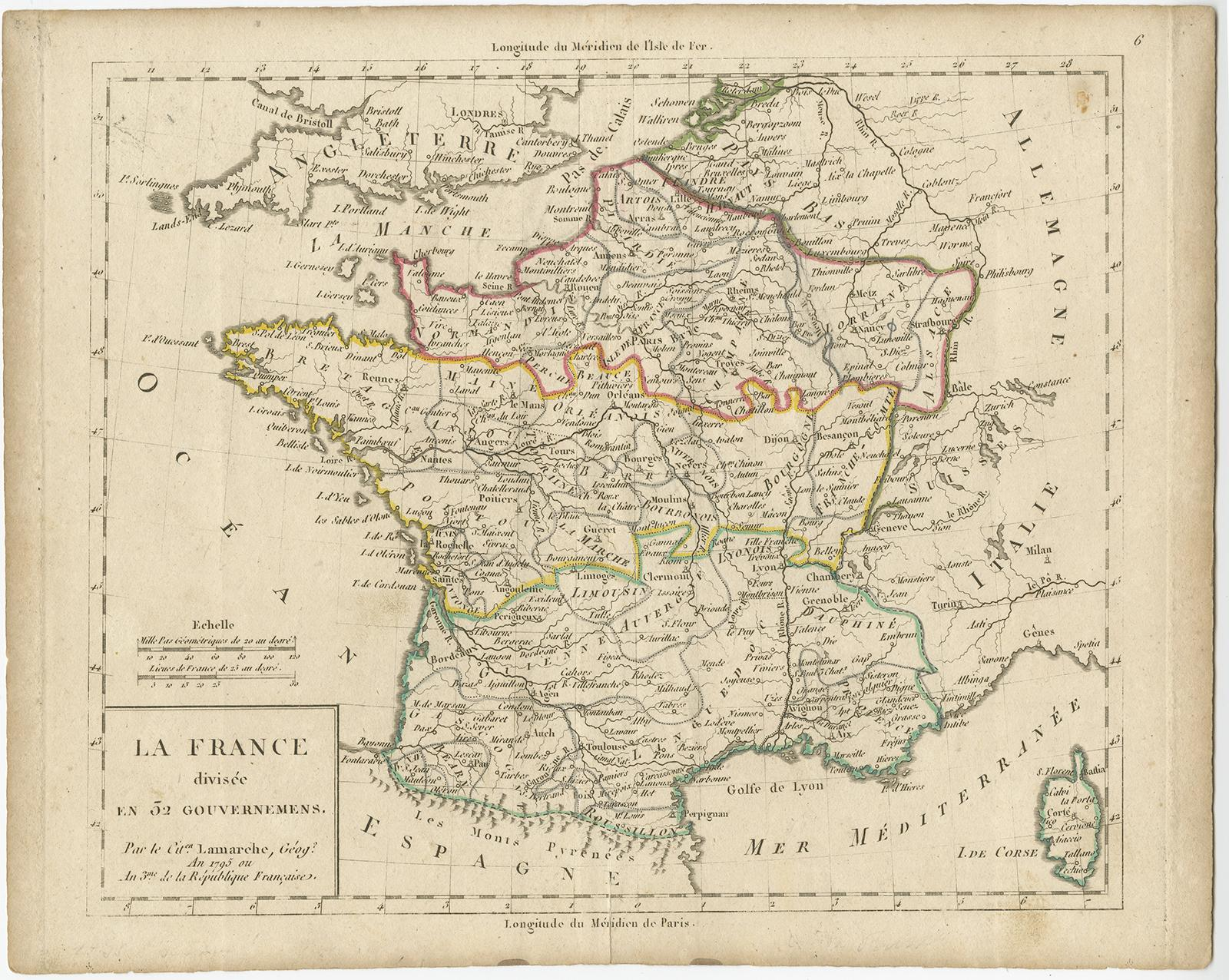 Map Of France 1800.Antique Map Of France By C F Delamarche C