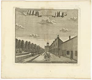 Antique Print of Governor General Valckenier's Billiard Hall (Indonesia) by J.W. Heijdt (1740)