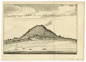 Antique Print of Ternate (Indonesia) by R.A.C. de Renneville (1706)