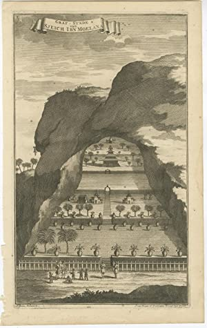 Antique Print of the Tomb of Sheikh Ibn Moelana by J. van Braam (1726)