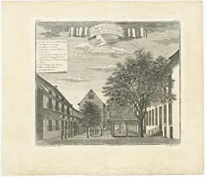 Antique Print of the Governor- General's residence on Batavia by J.W. Heijdt (1739)