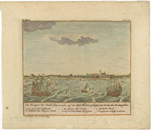 Antique Print of the City of Tuticorin and Madura by J.W. Heijdt (1740)