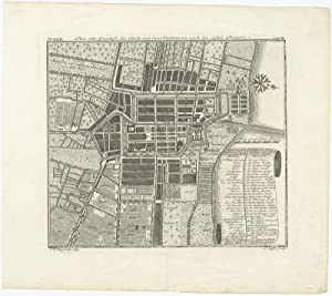 Antique Plan of Batavia and Surroundings by J.W. Heijdt (1739)