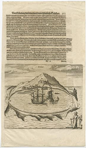 Antique Print of Solor (Sunda Islands, Indonesia) byT. de Bry (1612)