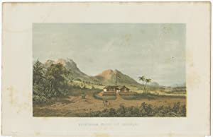 Antique Print of the Mountain at Kayotanam (Asia) by C.W. Mieling (c.1860)
