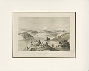 Antique Print of Webster Island (Yedo Bay) by Sarony & Co (1857)