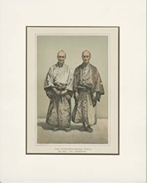 Antique Print of two Japanese Men by T.S. Sinclair (1857)