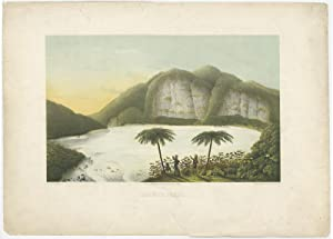 Antique Print of Kahwah-Patua by F.W. Junghuhn (1850)