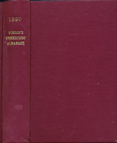 Wisden Cricketers' Almanack 1890. 27th edition: Pardon, Charles F [ed.]