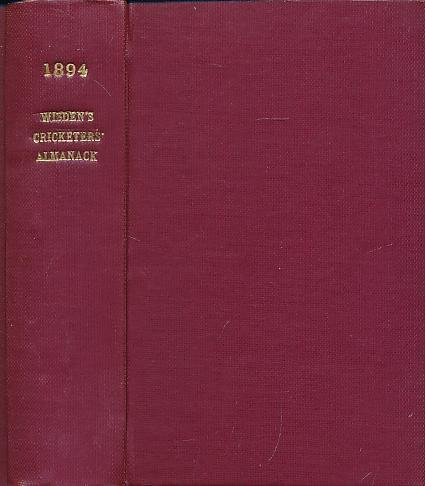 Wisden Cricketers' Almanack 1894. 31st edition: Pardon, Charles F [ed.]