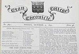 The Eton College Chronicle No 565 October 2nd 1891 to August 3rd 1893: Etonians