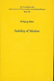 Stability of Motion: Hahn, Wolfgang; Baartz, Arne P [tr.]
