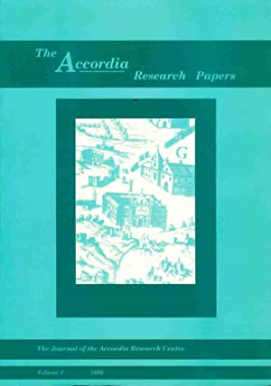 The Accordia Research Papers, Volume 1: Herring, Edward, Whitehouse, Ruth; Wilkins, John, [Eds.]