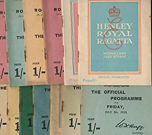 Henley Royal Regatta. The Official Programme for Thursday, July 4th, 1935. Second day: Henley Royal...