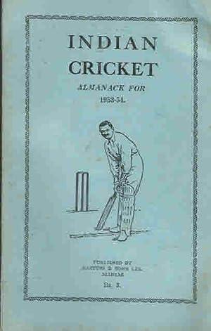 Indian Cricket Almanack for 1953-54: Gurunathan, S K