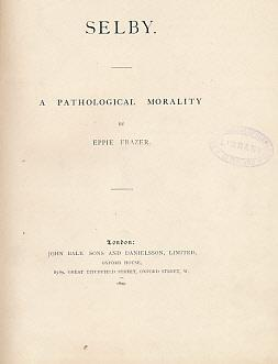 Selby. A Pathological Morality: Frazer, Eppie