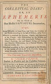 The Coelestial Diary: Or, An Ephemeris for the Year of Our Blessed Saviour's Incarnation 1740 ...