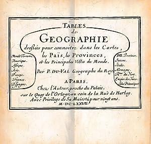 Traité de Geographie qui Donne La Connoisance et L'Usage du Globe et de la Carte Aveque...
