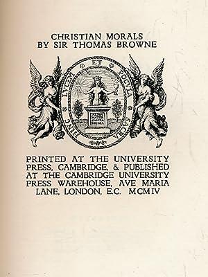 Christian Morals: Browne, Thomas