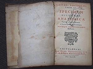 Specimen Historiae Anatomicae Partium Corporis Humani Ad Recventiorum Mentum Accomodatarae Novisque...