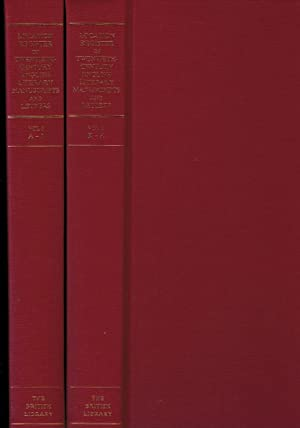 Location Register of Twentieth-Century English Literary Manuscripts and Letters: A Union List of ...