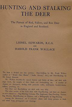 Hunting & Stalking the Deer. The Pursuit: Edwards, Lionel; Wallace,