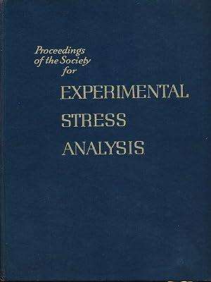 Proceeding of the Society for Experimental Stress Analysis. Volume XVI, Number I. 1958: Mahlmann, C...