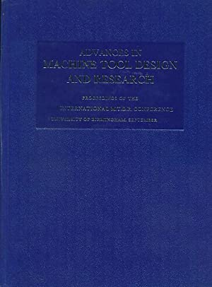 Advances in Machine Tool Design and Research: Tobias, S A;