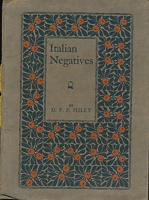 Italian Negatives: Hiley, D F P